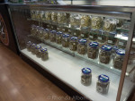 Some of the various strains of marijuana at Sweet Relief, a legal marijuana dispensary in Astoria Oregon