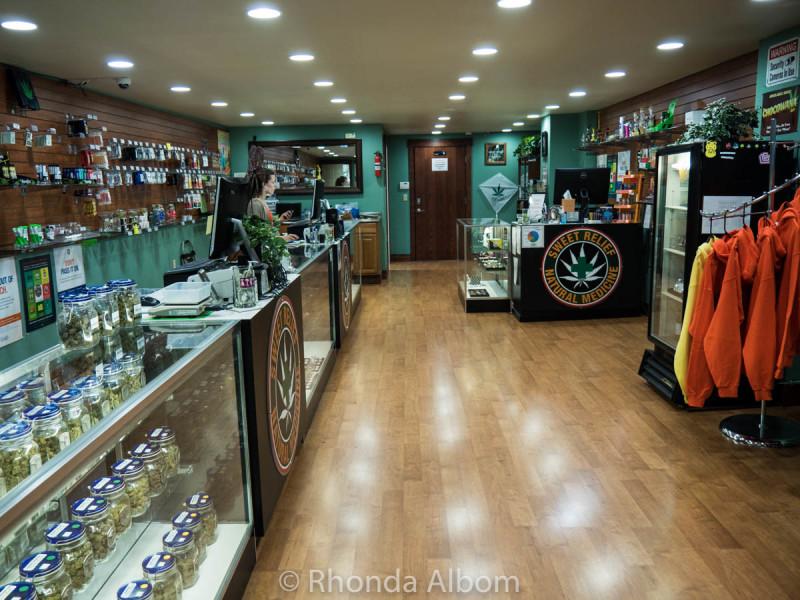 Inside Sweet Relief, a legal marijuana dispensary in Astoria Oregon