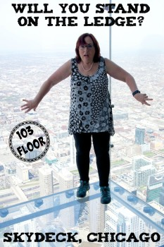 Skydeck Chicago view from the Ledge on 103 Floor. I went out in the glass box, would you