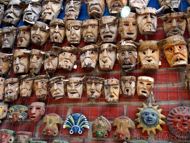Mask by the Zapotec Indians in the valley of Oaxaca, Mexico