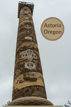 Astoria Column is one of several interesting sites in Astoria Oregon, the states northernmost coastal community.