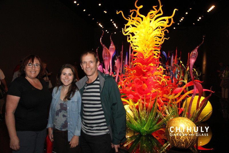 Like atthe Space Needle, the photos taken at Mille Fiori are free souvenirs sent via email. Photo Credit: Supplied by Chihuly Garden and Glass