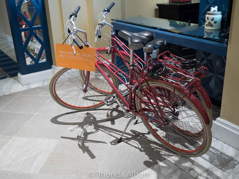Complimentary bicycles to use during our stay.