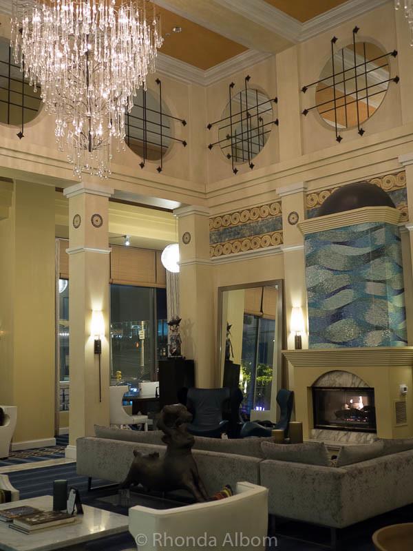 Stunning lobby of Hotel Monaco in Seattle Washington