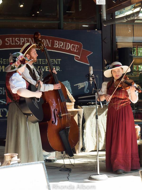 Entertainment at Capilano Suspension Bridge Park in Vancouver