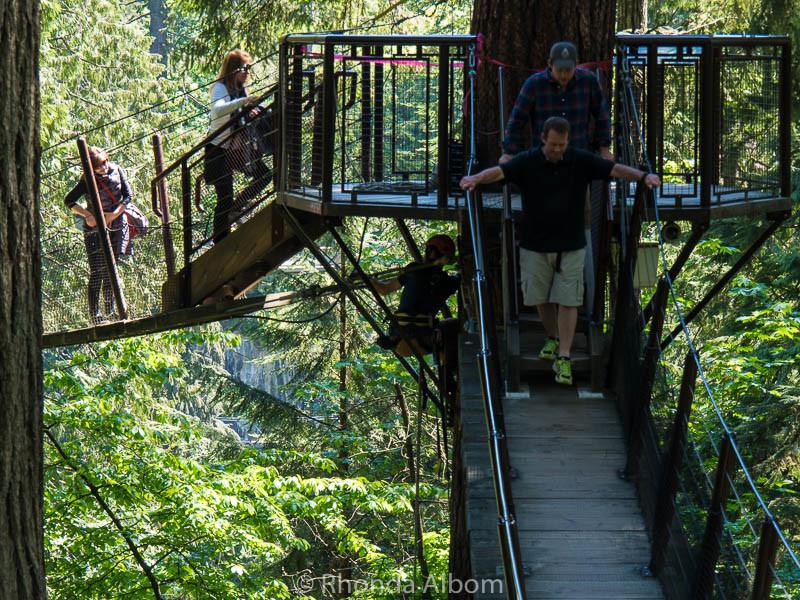 Tree Top Adventures at Capilano Suspension Bridge Park in Vancouver