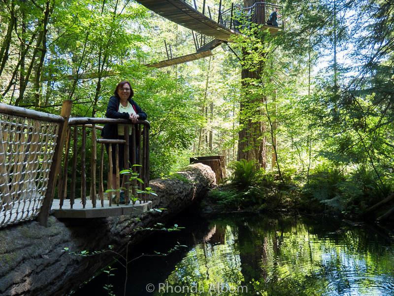 The Capilano Suspension Bridge Park in Vancouver Canada
