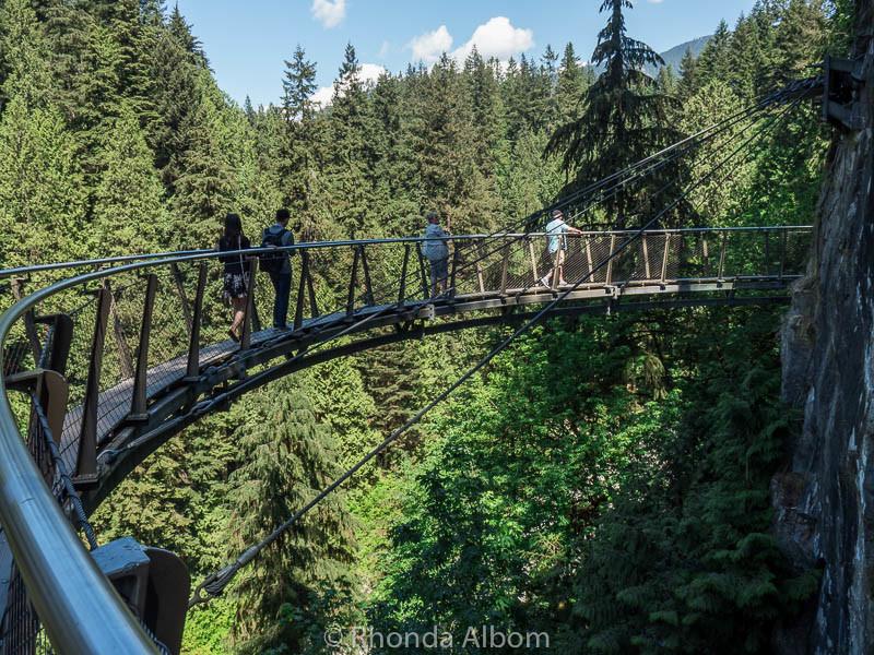 Cliff Walk at Capilano Suspension Bridge Park in Vancouver Canada
