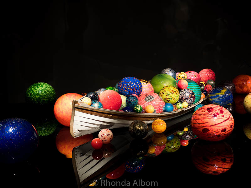 Ikebanna and Float Boats at Chihuly Garden and Glass in Seattle Washington