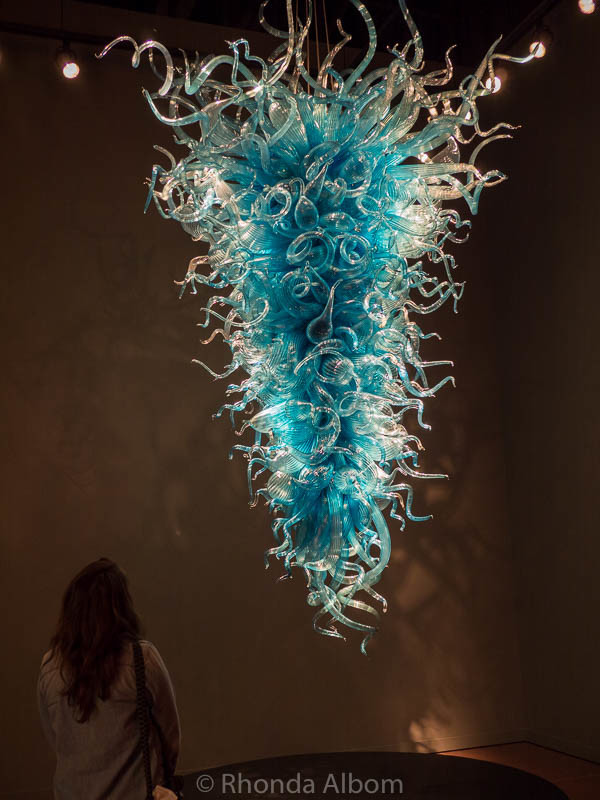 Chandeliers at Chihuly Garden and Glass in Seattle Washington