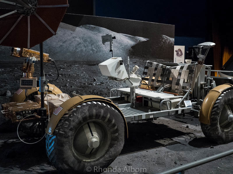 Boeing engineering mock up of the lunar rover at the Museum of Flight in Seattle Washington