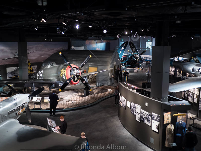 Overlooking the WWII Gallery at the Museum of Flight in Seattle Washington