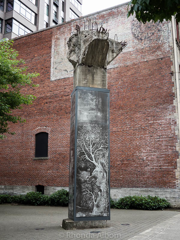 The Lovejoy Columns in the Pearl District of Portland Oregon