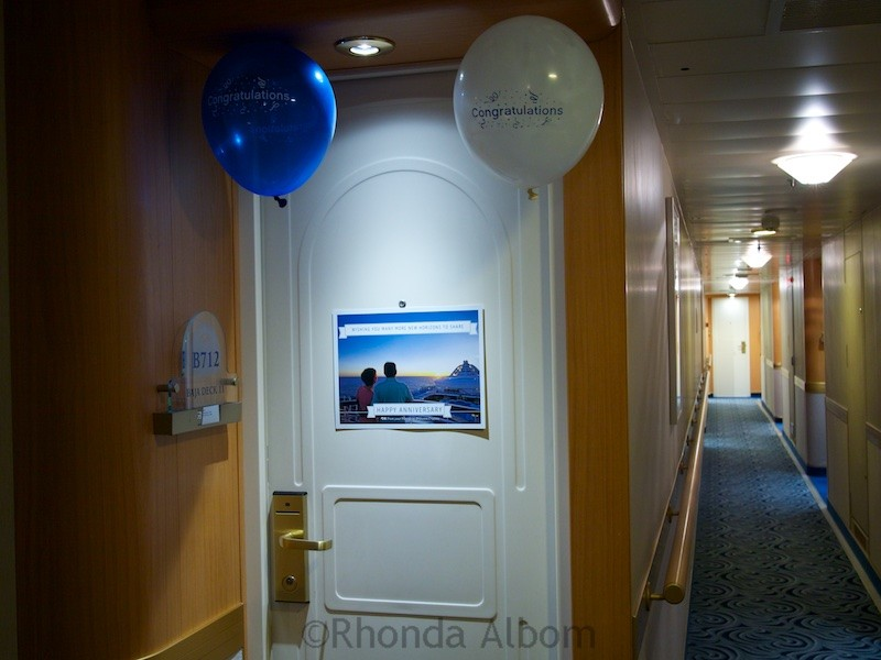 Hallway on a cabin deck of the Island Princess