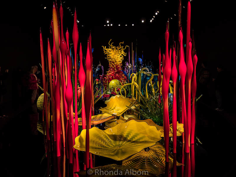 Chihuly Garden and Glass is one of the most colourful things to do in Seattle Washington