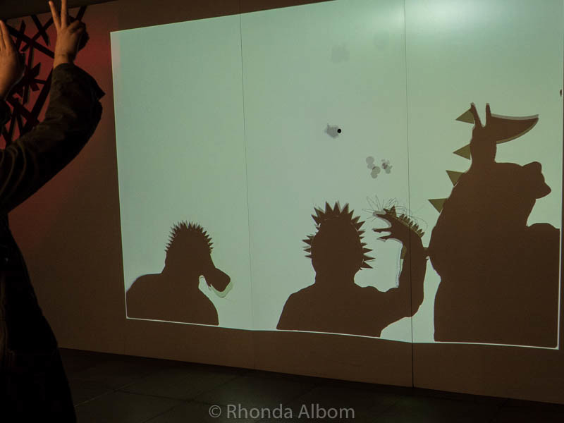 Monster Shadow box at EMP Museum in Seattle Washington