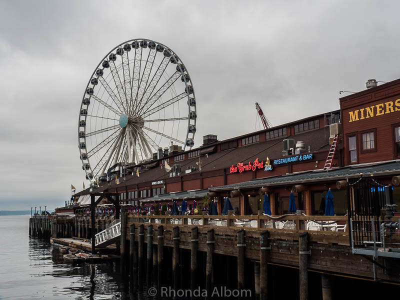 The Seattle Great Wheel is one of the top 10 things to do in Seattle