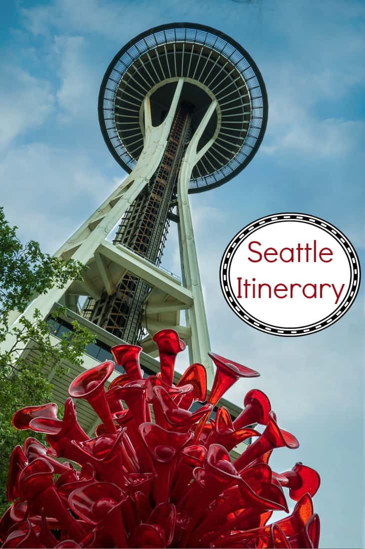 My recommended itinerary for a weekend in Seattle Washington includes the space needle, several museums, restaurants and a flying fish.