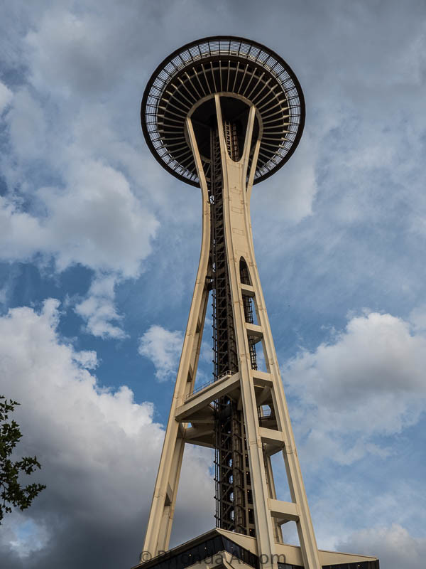 Seattle Space Needle opened in 1962 for the World's Fair.
