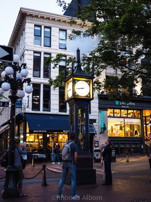 The steam clock is a landmark in Gastown in Vancouver Canada