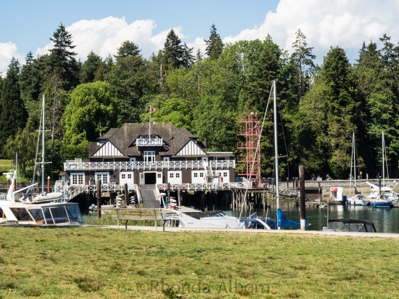A boat house in Stanley Park in Vancouver Canada