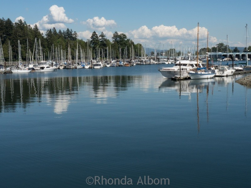 Behind the boat house in Stanley Park in Vancouver Canada