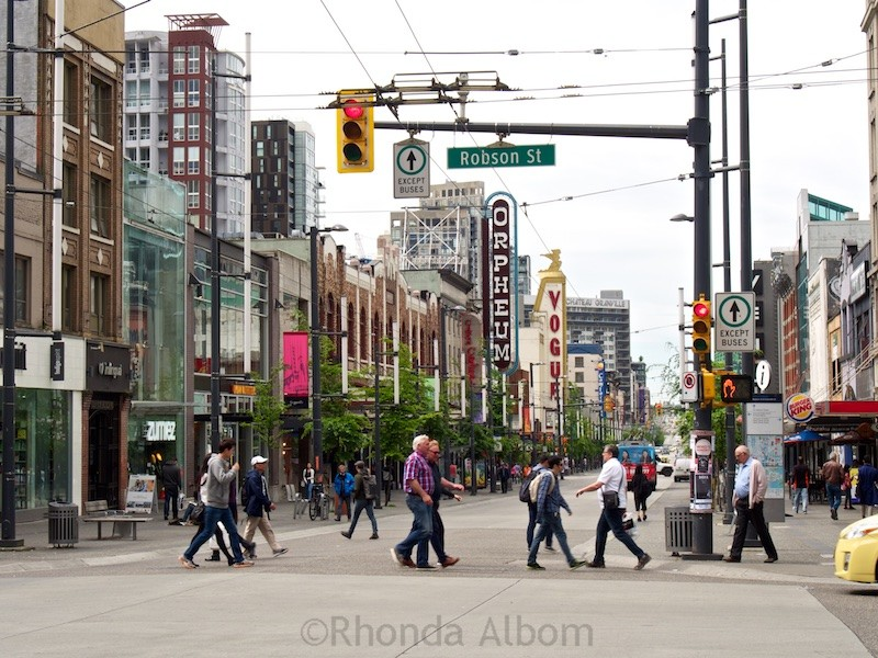 Since the 1920's Granville Street has been the city's main entertainment district in Vancouver Canada