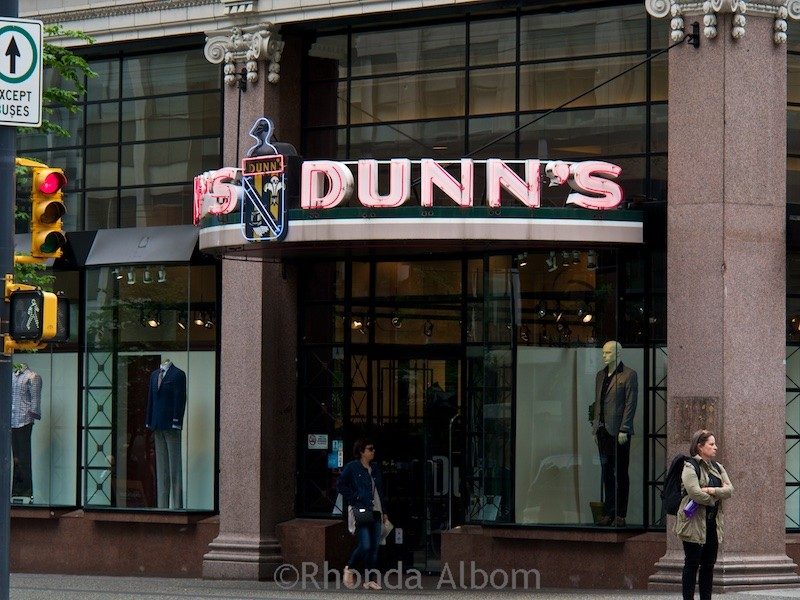 The Dunn's Tailor sign in Vancouver had heritage designation.