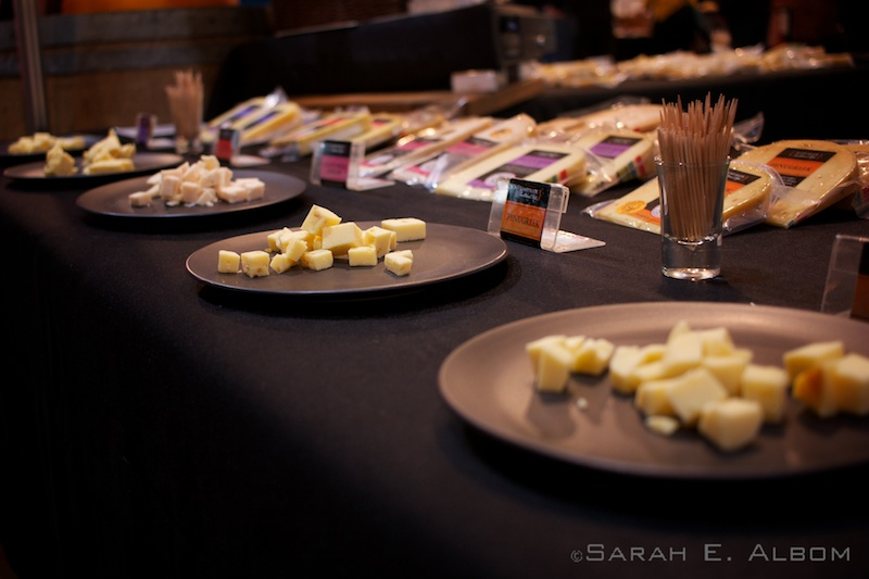 Cheese display at the Auckland Food Show