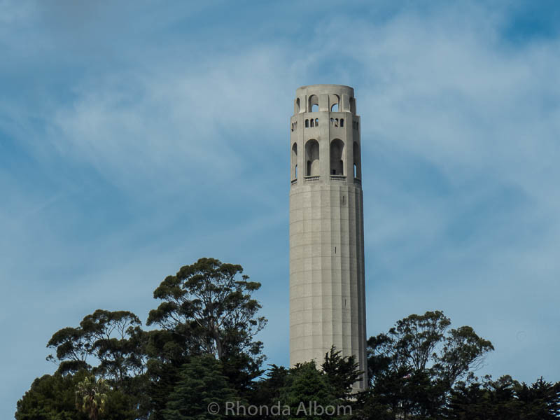 Coit Tower on Telegraph Hill in San Francisco is one of the classic images of San Francisco