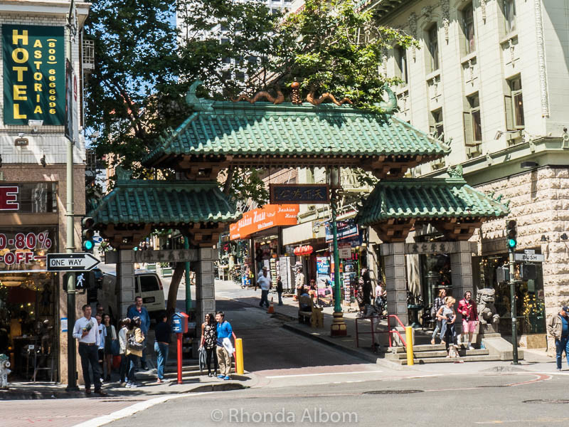 Dragon Gate entrance to San Francisco Chinatown