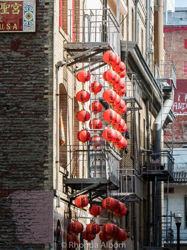 Lanterns are classic San Francisco images in the city's Chinatown