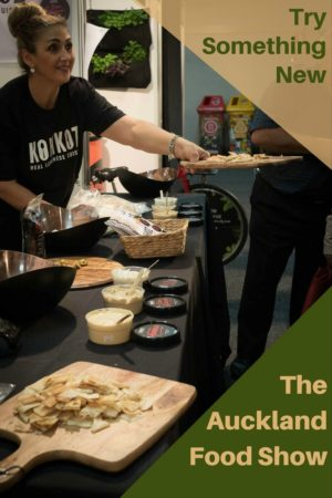 Lots of foods and food items to sample, purchase, or observe at the Auckland Food Show 2017