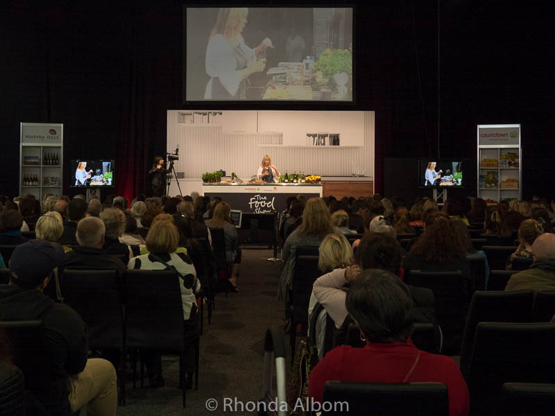 Annabel Langbein speaking at the Auckland Food Show 2017