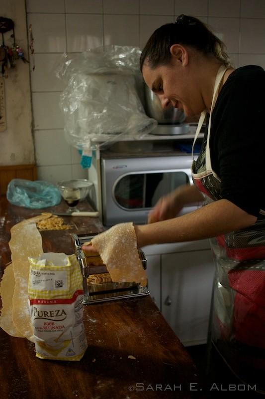 Homemade pasta in Paraná, Argentina. Photo copyright ©Sarah Albom 2016