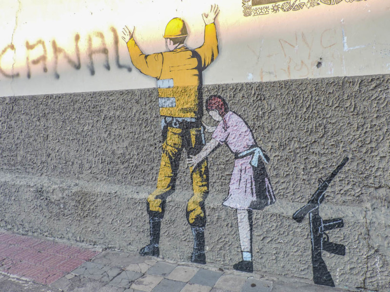 Leon Nicaragua Fake Banksy I Street Art_