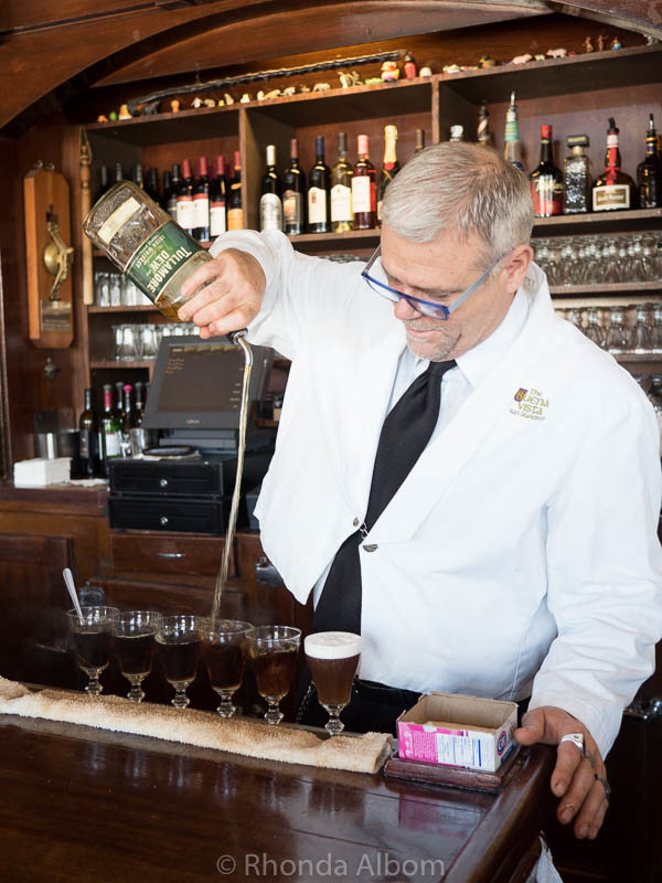 Making an Irish Coffee at Buena Vista Cafe in San Francisco - This is step 4