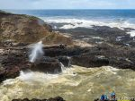Spouting Horn at Cook's Chasm is one of the best Oregon coast attractions