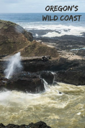 Spouting Horn at Cook's Chasm in Cape Perpetua. One f many spectacular photos of the Oregon coast at https://www.albomadventures.com/oregon-coast/