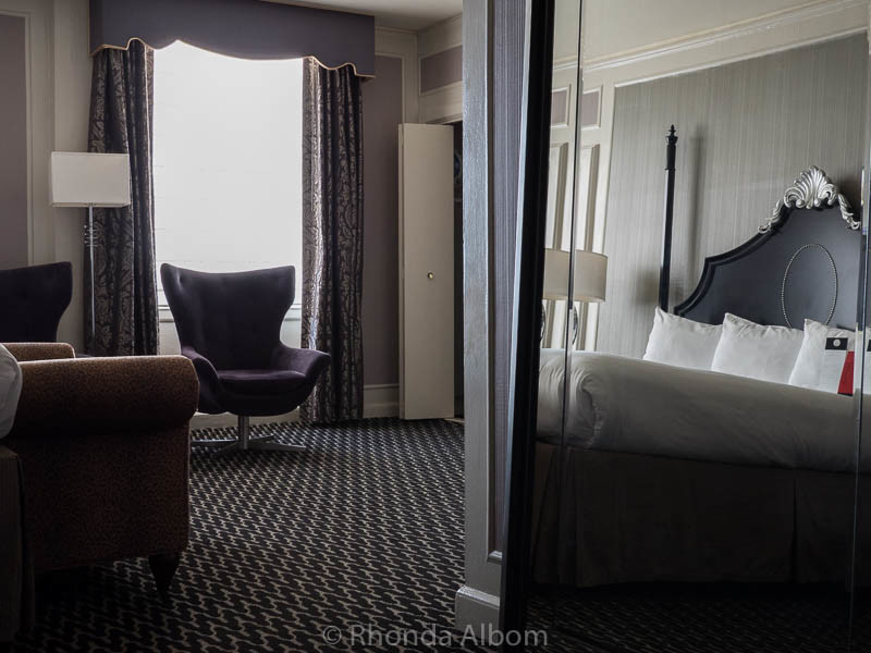 Grand Guestroom in the Sir Francis Drake Hotel in San Francisco California