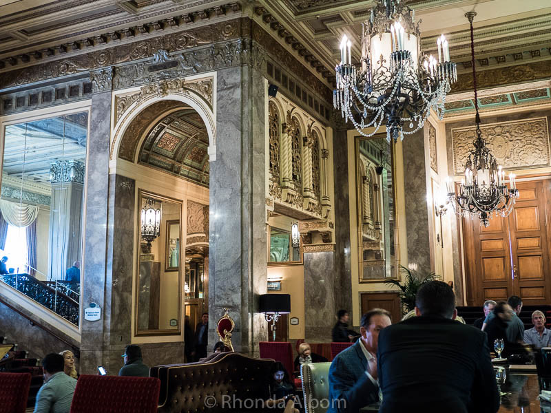 Lobby of the Sir Francis Drake Hotel in San Francisco California