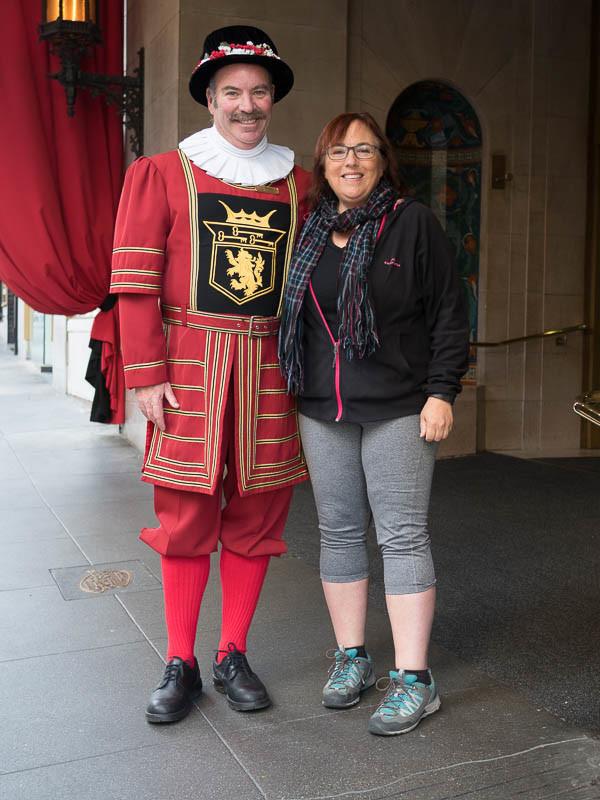 Doorman at the Sir Francis Drake Hotel
