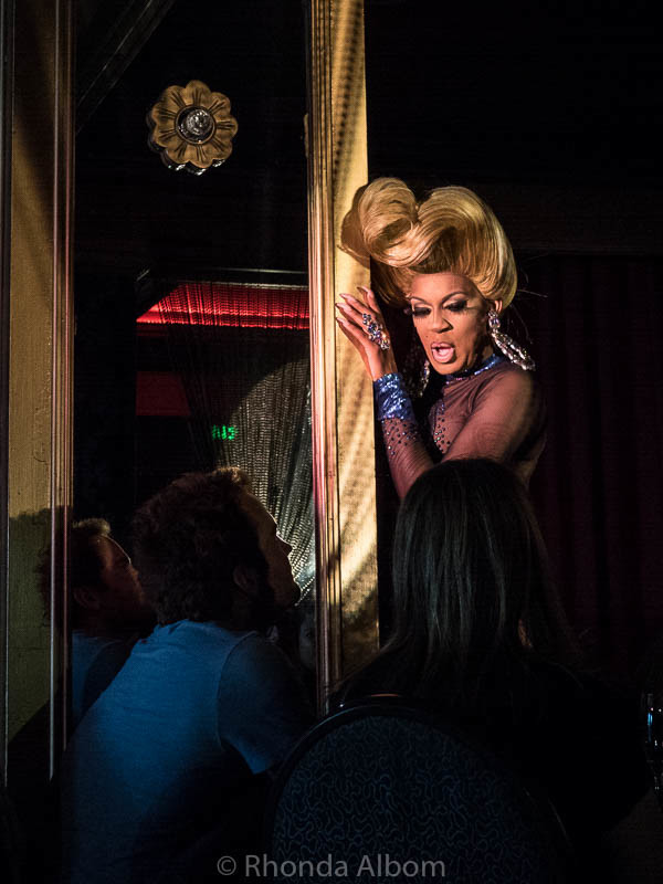 Drag Queen at Sunday's a Drag in the Starlight Room, San Francisco California
