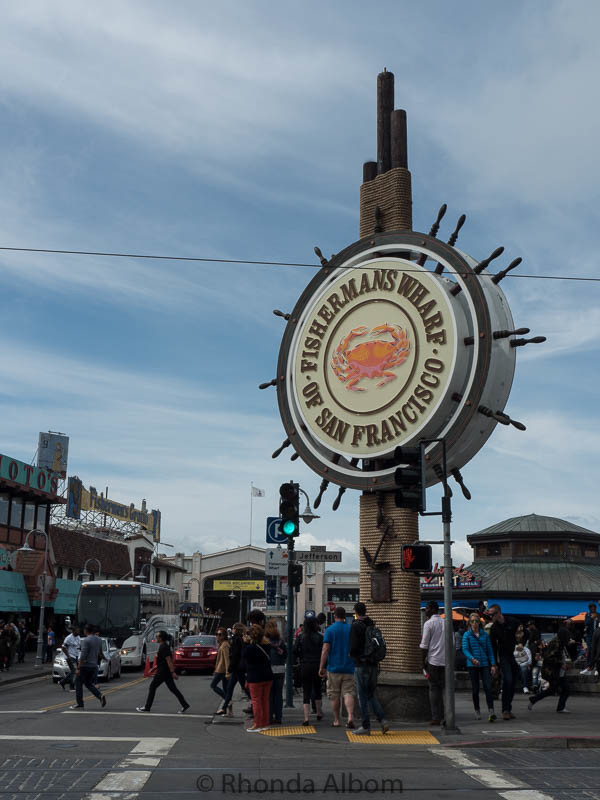 Classic Fisherman's Wharf sign in San Francisco Califronai