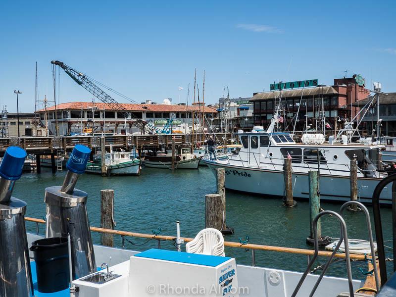 Fishing Boats on Fisherman's Wharf in San Francisco California
