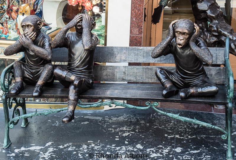Hear no evil monkeys in San Francisco