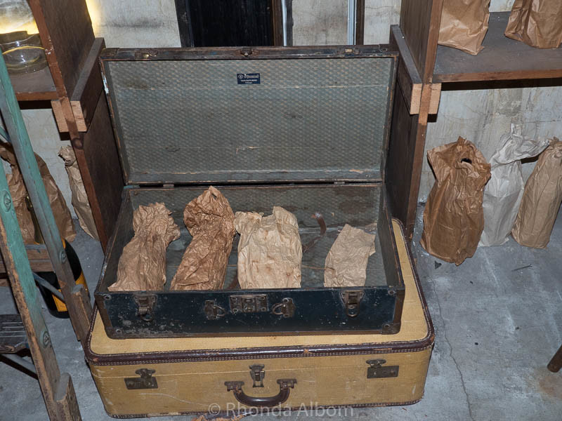 Booze was stored in suitcases in the secret prohibition room at the Sir Francis Drake Hotel in San Francisco California