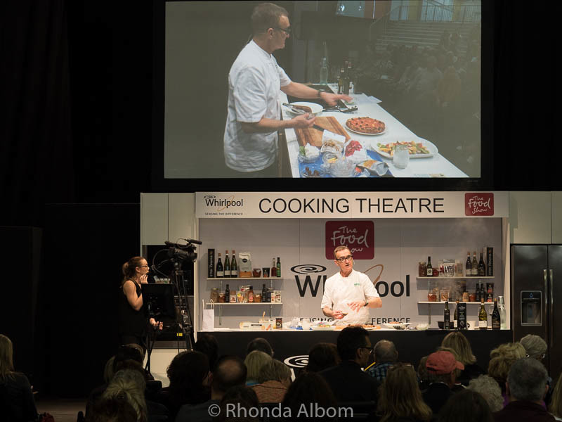 Cooking demonstrations at the Food Show in Auckland 2016