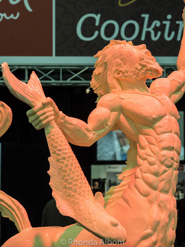A giant centaur made out of margarine at the Auckland Food Show 2016