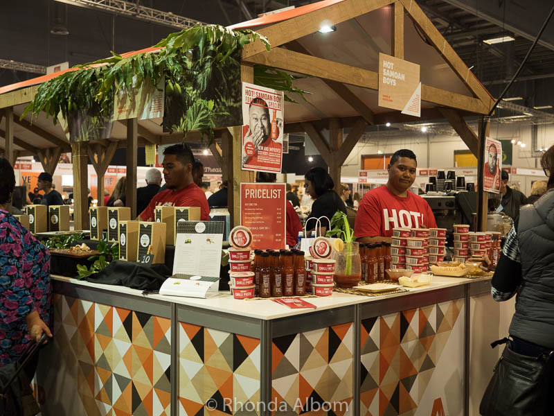 Hot sauce at the Auckland Food Show